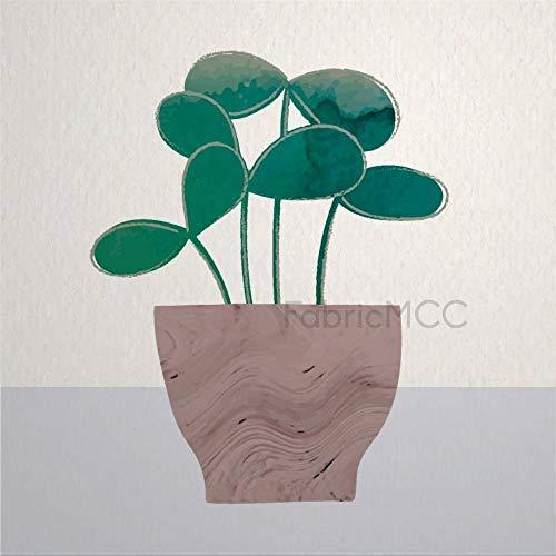 Juego de adhesivos decorativos para azulejos, diseño floral, color turquesa, diseño de flores, 12 unidades, vinilo impermeable para decoración del hogar