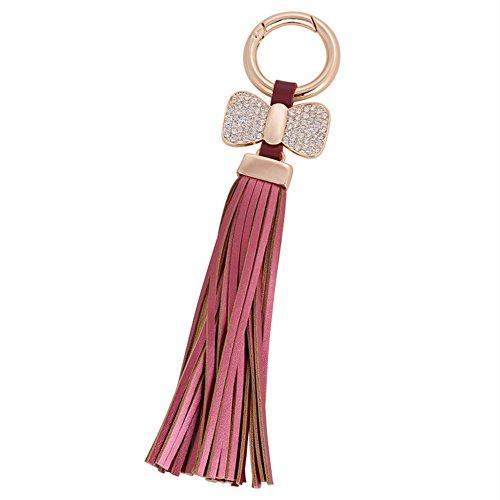 Dosige 1 stuks modieuze persoonlijkheid sleutelhanger, creatieve sleutelhanger voor auto, sleutelhanger, sleutelhanger, bow kwast wijn, 18,5 cm