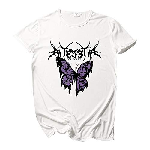 GY Crewneck Graphic Camiseta para Camisetas Manga Larga Mujer Hombre Mujer T-Shirt Logo Camiseta para Hombre