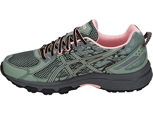 ASICS Women's Gel-Venture 6 Trail Running Shoes, 10M, Slate Grey/Frosted Rose 2