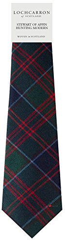I Luv Ltd Gents Neck Tie Stewart Of Appin Hunting Modern Tartan Lightweight Scottish Clan Tie