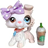 Judy lps Collie Icecream #059 Pink Body Different Eyes Gray Eyesbrown Puppy Rare Figures Kids Collectable Gift