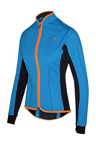 Spiuk Race Chaqueta, Mujer, Azul/Naranja, M