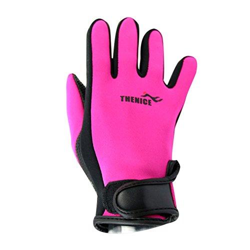Alftek 1par Traje de Neopreno Antideslizante Guantes de 1,5mm para Hombres Mujeres Buceo Buceo Surf Nadar, Color Rosa, tamaño Medium