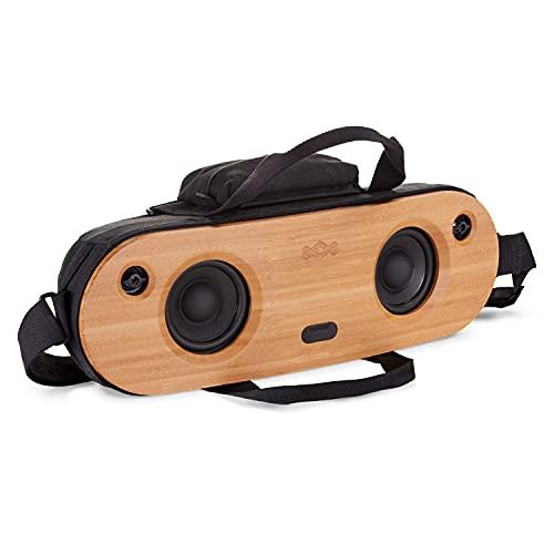 House of Marley Bag of Riddim 2, Bluetooth wireless Speaker, tragbare kabellose Lautsprecher Box, Audio So& System für unterwegs, Aux-In, USB Port zum Aufladen externer Geräte, 10 Std. Akkulaufzeit