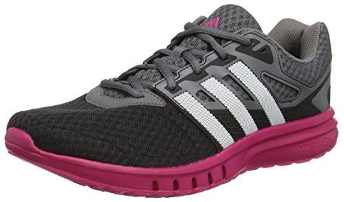 adidas Galaxy 2 W, Zapatillas de Running para Mujer, Gris/Rosa (Rosfue/Negbas/Ftwbla), 36 2/3 EU