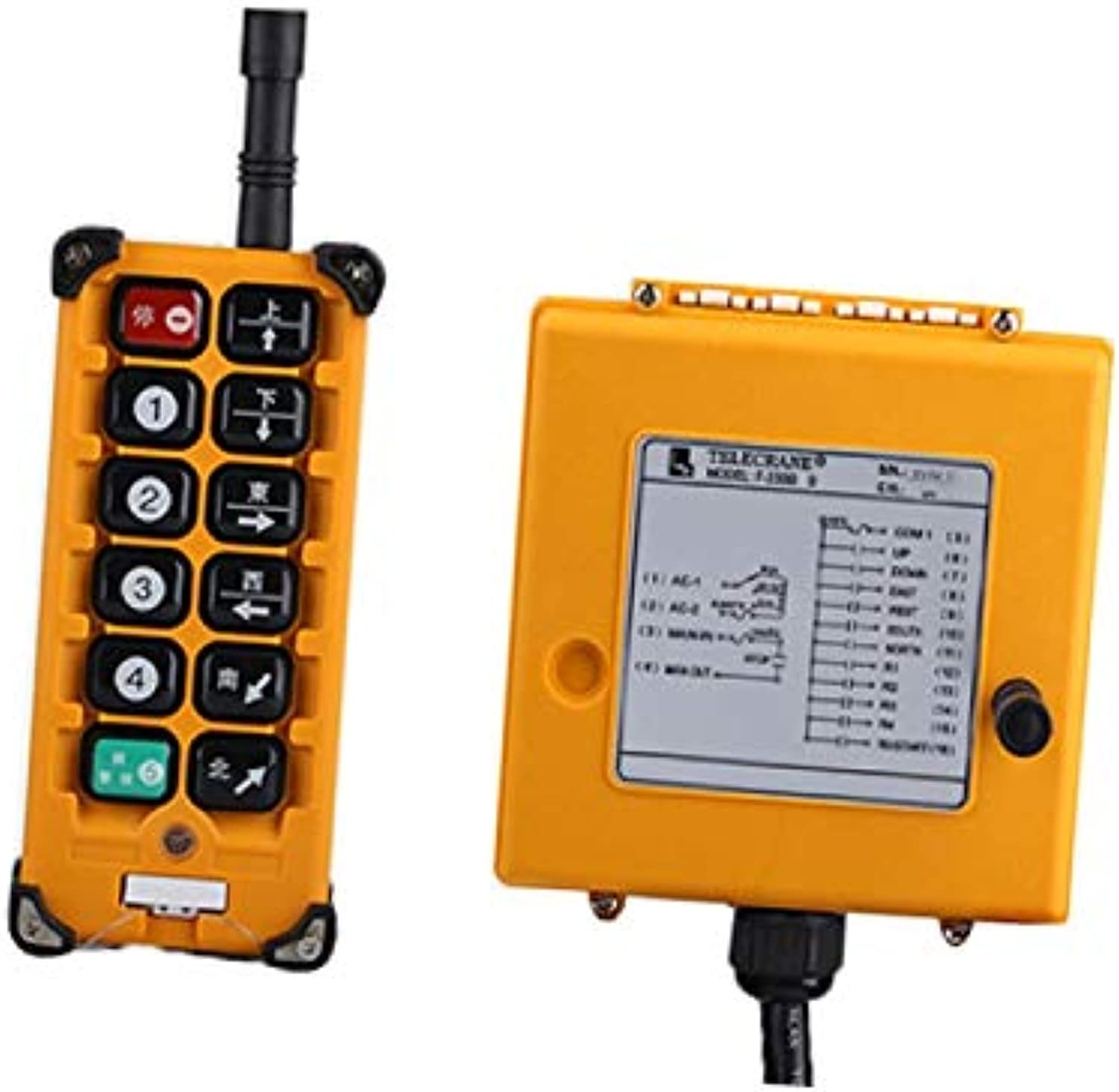 F23BB for Hoist Crane 1 Transmitter and 1 Receiver Industrial Wireless redio Remote Control Switch switches  (Voltage  380V)