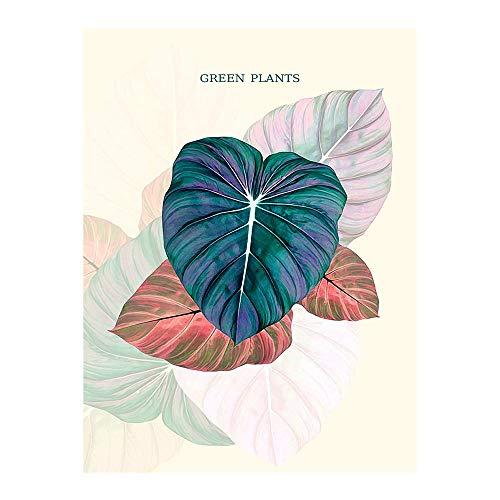 Geiqianjiumai Scandinavische moderne minimalistische kleine verse tropische plant laat Engelse woonkamer decoratieve schilderij kern