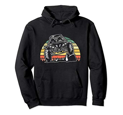 ATV Off Road Desert Sand Dune Buggy Retro Vintage Sunset Pullover Hoodie