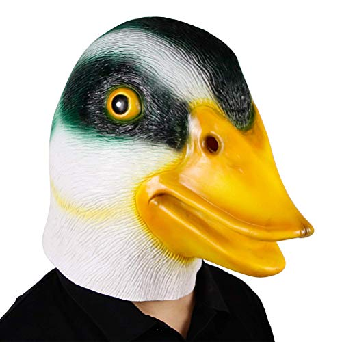 JiuRong Halloween Ente Kopf Maske Neuheit Tierkopf Kostüm Für Party Cosplay