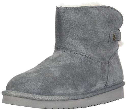 Koolaburra by UGG Women's Jaelyn Mini Fashion Boot, Stone Grey, 11 Medium US