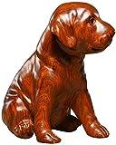 RSRZRCJ Ornamento Statua Statua di Scultura Scultura Statua Decorazione Legno di Palissandro Scultura in Legno Decorazione per Cani Decorazione Domestica Regalo