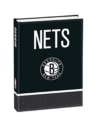 DIARIO SCUOLA NBA Nets Brooklyn New York 2020/21 + OMAGGIO Portachiave fischietto + PENNA GLITTERATA