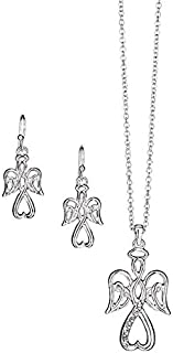 Precious Angel Necklace and Earring Set
