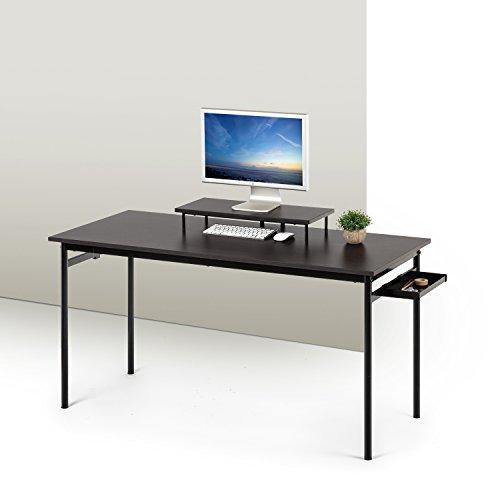 Zinus Tresa Computer Desk / Workstation in Espresso, Medium