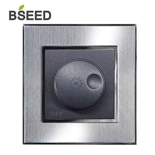 BSEED muurstopcontact TV en ethernet Socket CATCATE 1 poort RJ45 netwerk metaal geborsteld staal schrowless sockets Dimmer Schalter