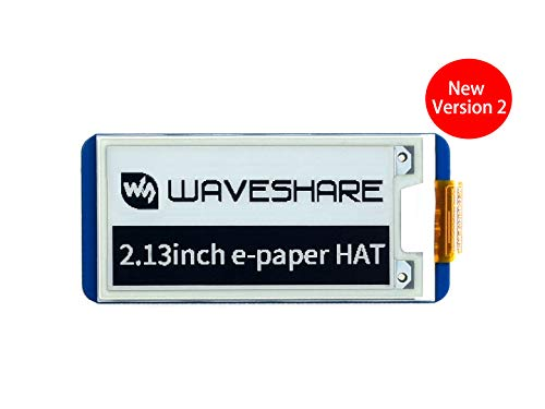 Waveshare 2.13 Inch e-Paper Display HAT 250x122 Resolution E-Ink Screen Electronic Paper Module with Embedded Controller for Raspberry Pi 2B 3B Zero Zero W,SPI Interface