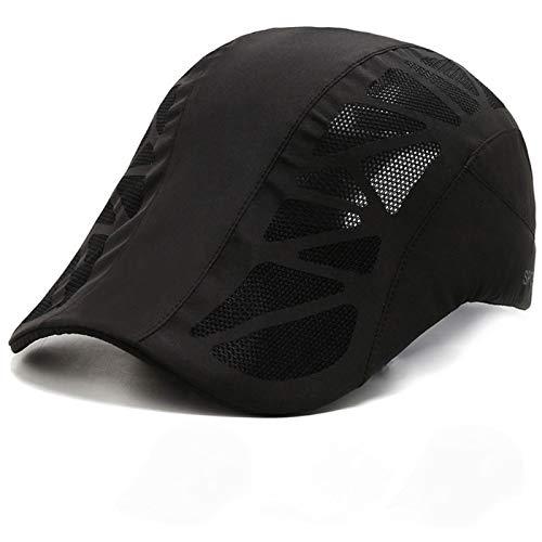 aolongwl Los hombres sombreros ocasionales de la boina del sombrero del casquillo plano ajustable transpirable de la malla de la moda gorras nuevas para adultos y niños