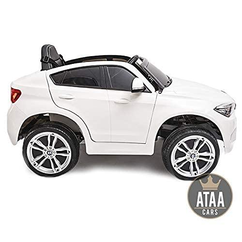 ATAA BMW X6M batería12v - Blanco -Coche electrico para niños Grandes Dimensiones...