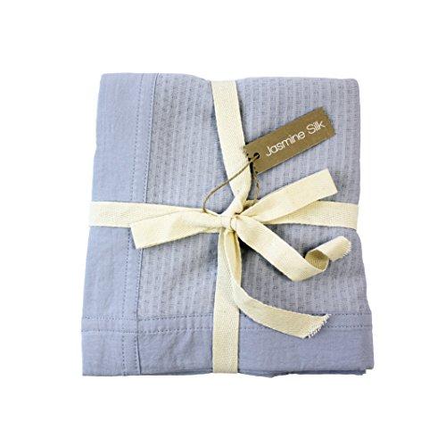 Jasmine Silk 100% Bamboo Cellular Baby Blanket (Blue)