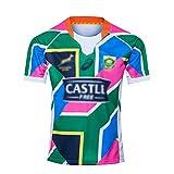 LQLD 2020 Uniformes de Rugby sud-Africain, Sept-A-Side Accueil Maillots Maillots Joueur, Uniformes de Formation, Manches Courtes T-Shirts, Uniformes de Football,Away,S