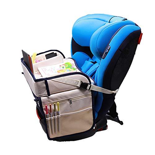 Openg Reisetisch Auto Kinder Loori Kinder Reisetisch Reisetabletts für Kinder Lenkrad Tischablage Auto-Rücksitz-Organizer mit Tablett Black