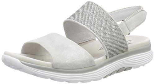 Gabor Shoes Damen Rollingsoft Riemchensandalen, Weiß (Ice/Altsilber), 35.5 EU