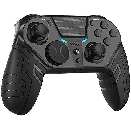 TUTUO Wireless Controller für PS-4,Bluetooth Game Controller Joystick Gamepad mit 6 Gyro und Drahtloser Audioanschluss,Dual Vibration Game Controller kompatibel mit Android/iOS 13.0/Mac/PC