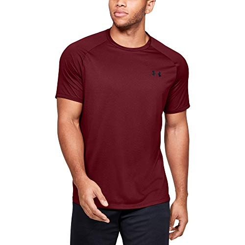 Under Armour Mens Tech 20 Novelty Short Sleeve T Shirt Cordova 615Black Large