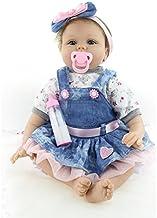 Nicery Munecas Reborn Baby Vinilo de Silicona Suave para Niños y Niñas Cumpleaños Bebé Reborn 20-22 Inch 50-55 cm Juguetes Reborn Baby gx55-55es