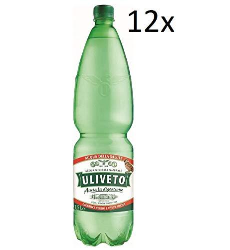 12x Uliveto Acqua Minerale Effervescente Naturale Mineralwasser sprudelnd natürliche PET 1,5Lt Italienisches Wasser hilft bei der Verdauung