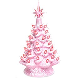 Light pink ceramic Christmas tree