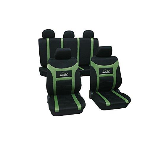 Eco Class Super Speed grün 11 teilig Sitzbezug Schonbezüge Schonbezug Autoschonbezug Sitzbezüge