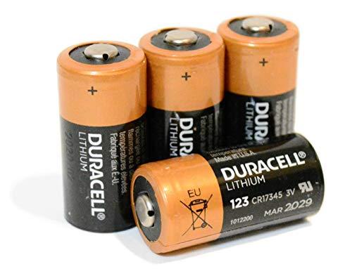 4 x Duracell DL123A Ultra Lithium Batteries (CR123A)