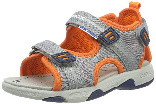 Geox Baby Jungen B Multy Boy a Sandalen, Grau (Grey/Orange C0036), 24 EU