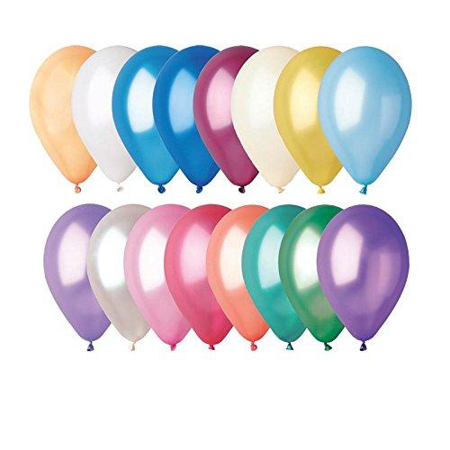 GEMAR- Sachet de 100 Ballons, BA19600/MULTI, Multicolore, Taille Unique