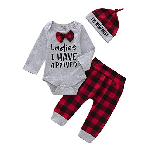 Hui.Hui Enfants Garçon Fille T-Shirt Imprimé Voiture de Dessin Animé à Manches Longues Tops Blouse pour Enfants + Short en Jean Tenues à 6Mois-4 Ans