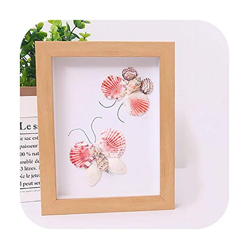 Frames Creative Shadow Box for Handmade DIY Flowers,Art Crafts,Pins, Medals,Tickets Dispaly,3D Photo Frame,Mounted Wall Decorative-Nature-Inner Size 20X20Cm