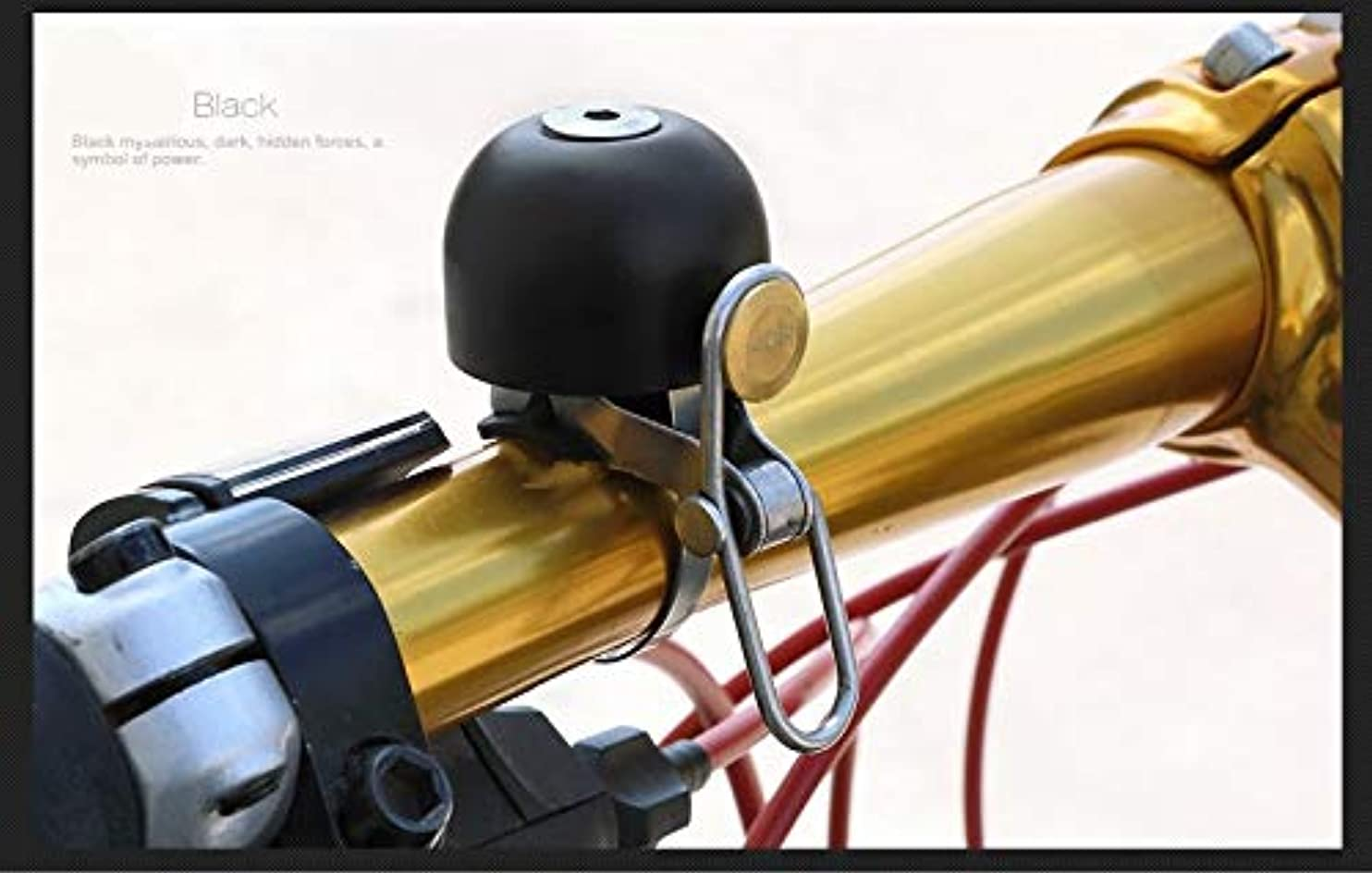 小学生落ち込んでいる狭いPropenary - Stainless Steel Bicycle Bell Bike Sound Handlebar Classical Ring Horn Safety Bike Sport Alarm Bell Bicycle Accessories [ Black ]