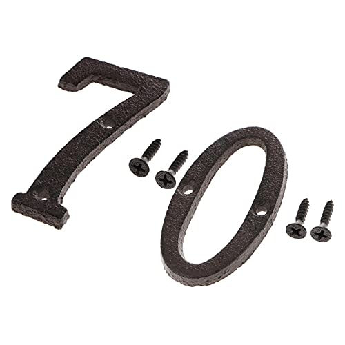 P Prettyia 1 Uds 2X Número Puerta Dirección Dígitos Pegatina Casa Placa Pegatina Decoración del Hogar