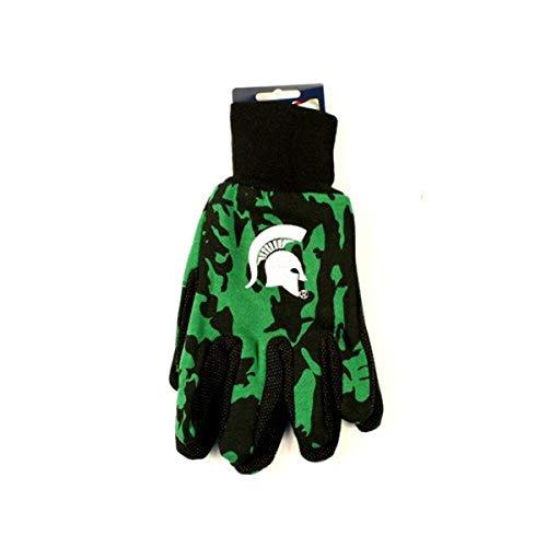 Wincraft NCAA Michigan State Spartans Camo Handschuhe, Grün/Schwarz