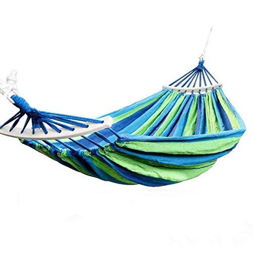 Ltong Hangmat Hangtouw Stoel Schommelstoel Zitje met 2 kussens Reizen Kamperen Hangmat Schommelbed voor binnentuin, 190x80cm