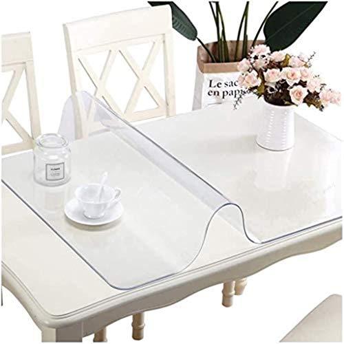 Mantel de PVC de 86XH de PVC transparente para el suelo, protector de piso de PVC hidrófugo, resistente al agua/caliente (color: 2,0 mm, tamaño: 90 x 150 cm) qiuliyin