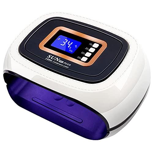 QSYY Lámpara De Uñas UV De 108 W, Secador De Uñas Profesional De 42 LED, Sensor De Movimiento De Uñas Inteligente, Muy Adecuado para Arte De Uñas Y Aceite para Pies