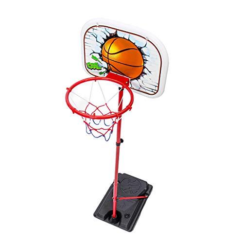 xxffyy Soporte de aro de Baloncesto para niños, Juguete de portería de Baloncesto Interior de Altura Ajustable, para bebés, niños, niñas, Deporte al Aire Libre para niños de 3 4 5 6 7 años