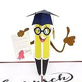 MOKIO® Pop-Up Glückwunschkarte – Glückwunsch zur bestandenen Prüfung / zum Abschluss – 3D Geschenkkarte zum Doktortitel, Schulabschluss, Abitur, Bachelor oder zum Master