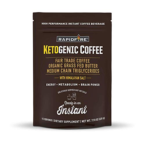 SPORTS NUTRITION SOURCE Rapid Fire Ketogenic Coffee Ketogene Ernährung Hochleistungs-Instant-Kaffee-Mix 15 portionen, 1er Pack (1 x 15 g)