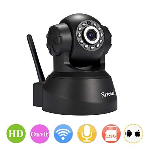 Preisvergleich Produktbild Wireless Security Camera 720P 1 Million Pixels HD Camera,  Two-Way Voice,  Built-In Mic, 13 Infrarot-LED-Leuchten,  Night Vision,  Multi-Plattform Remote Viewing,  Easy To Install