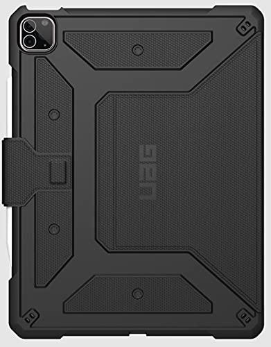 Urban Armor Gear Metropolis Schutzhülle für Apple iPad Pro 12.9'' Zoll (5. Generation 2021) Hülle - [Apple Pencil 2 kompatibel, Sturzfest, Unterstützt Wake/Sleep, Standfunktion] - schwarz