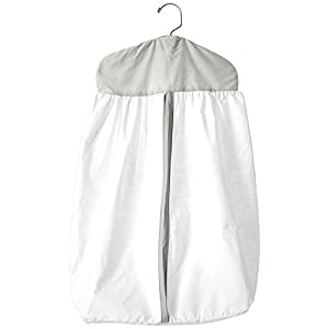 Baby Doll Bedding Forever Mine Junior Diaper Stacker, Grey